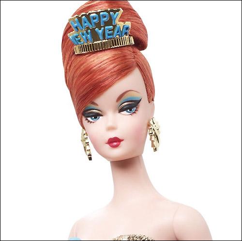 Новинка Happy New Year Barbie коллекционная кукла Барби 2013