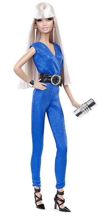 Коллекционная кукла Барби 2014 Голубой Комбинезон