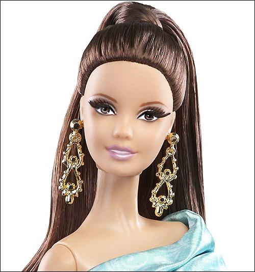 Коллекционная кукла Барби 2014 Зеленое Платье