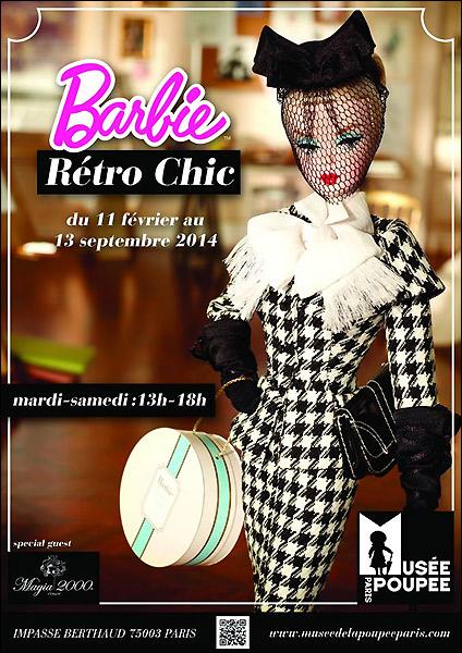 Выставка кукол Барби во французском музее кукол в Париже 2014