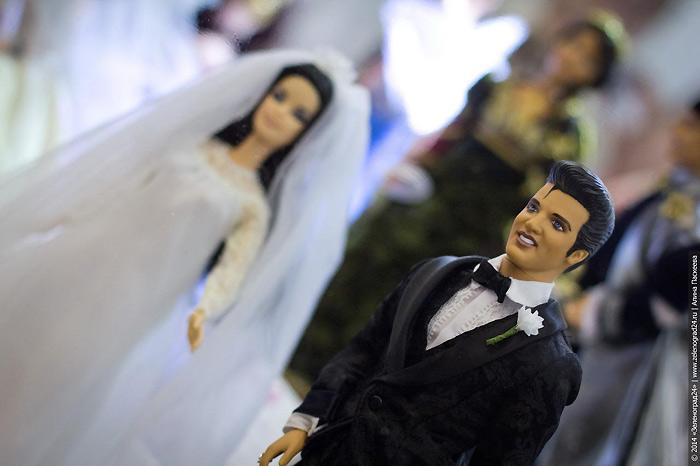 Elvis and Priscilla подарочный набор кукол - жених и невеста
