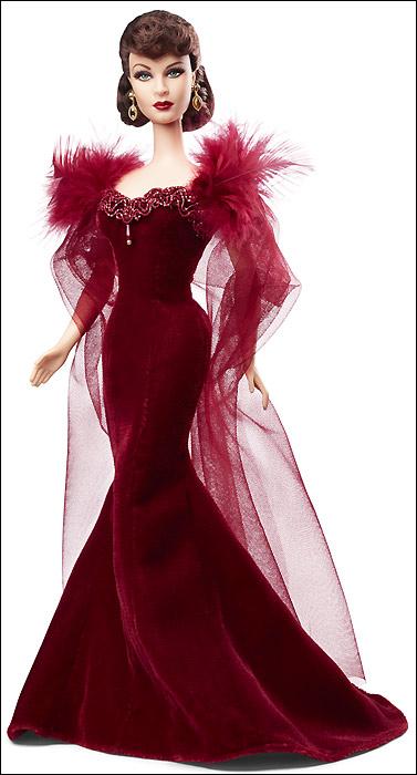 Коллекционная кукла Барби Скарлетт О Хара в красном платье - новинка 2014