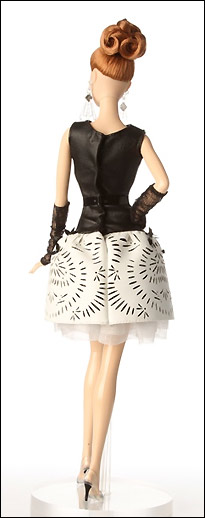 Коллекционная кукла Барби Laser Leatherette Dress Barbie новинка 2014