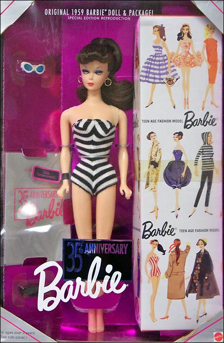 Коллекционная кукла Барби-репродукция 1994 года 35th Anniversary Barbie