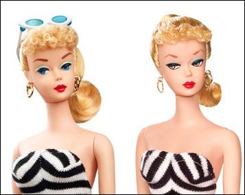 Сравнение репро-Барби - кукол, изображающих первую Барби