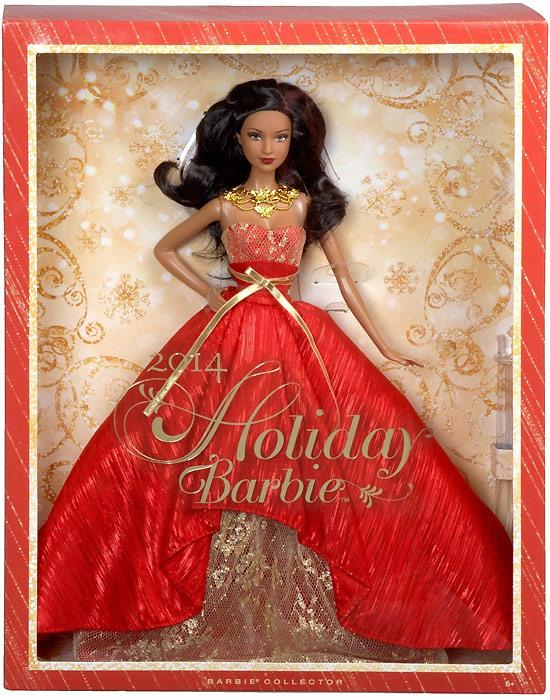 Живые фото новогодней Барби 2014 афроамериканки