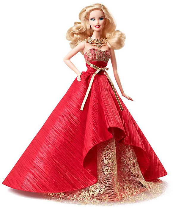 Коллекционная кукла Барби новогодняя 2014