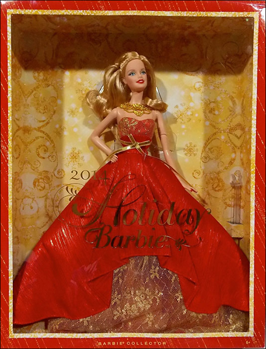 Коллекционная Барби Новый Год 2014 живые фото