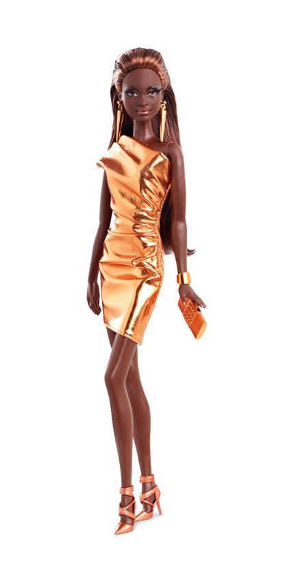 Коллекционная кукла Барби City Shine Bronze Dress 2015