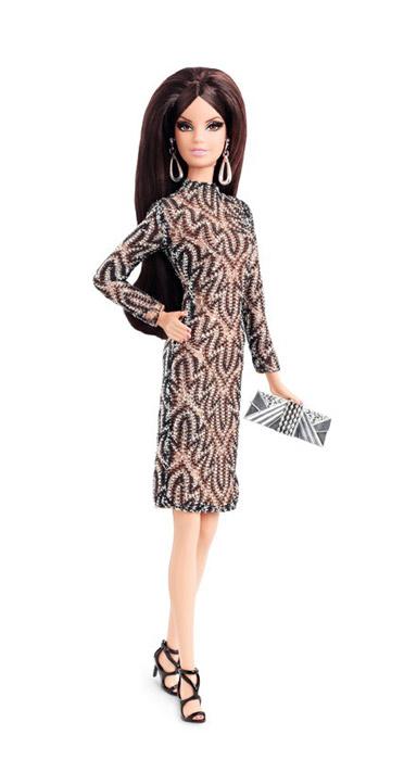 Коллекционная кукла Барби City Shine Lace Dress 2015