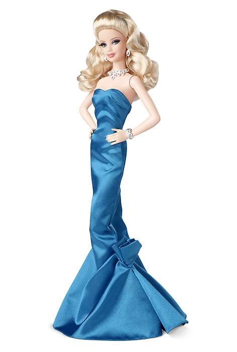 Коллекционная кукла Барби The Red Carpet Barbie Blue Gown 2014