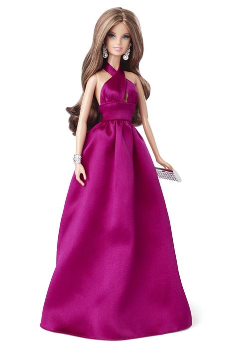 Коллекционная кукла Барби The Red Carpet Barbie Magenta Gown 2014