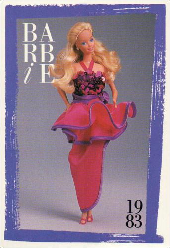 Коллекционная карточка Dream Date Barbie 1983