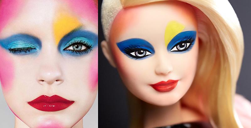 Барби примерила макияж визажиста Пэт Макграт для ведущих домов моды