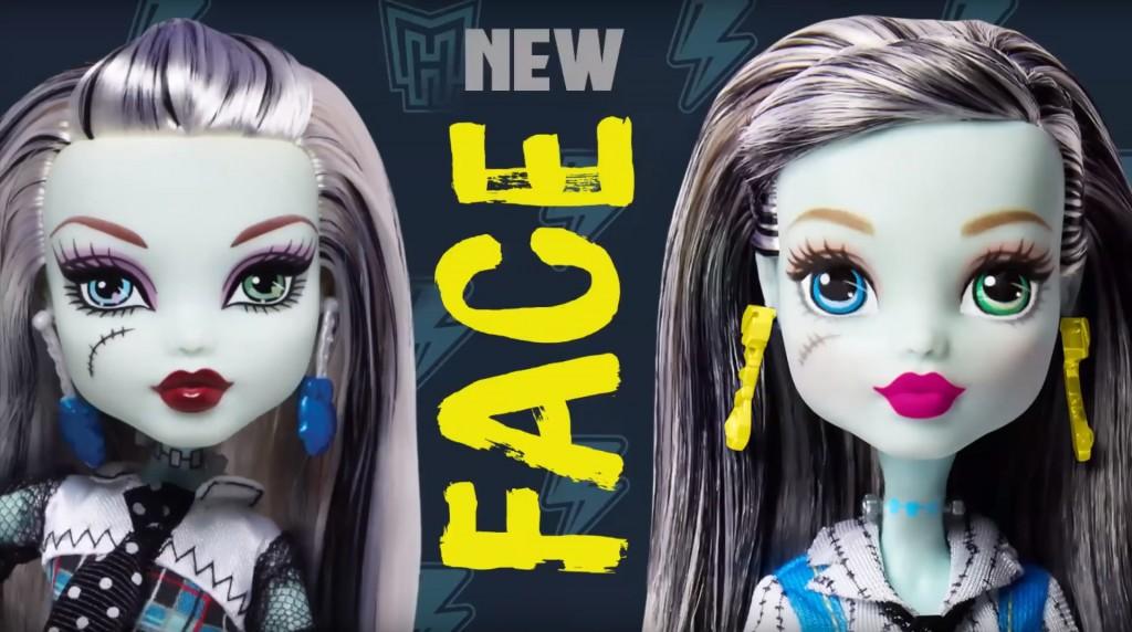Новые лица кукол Монстр Хай дизайн